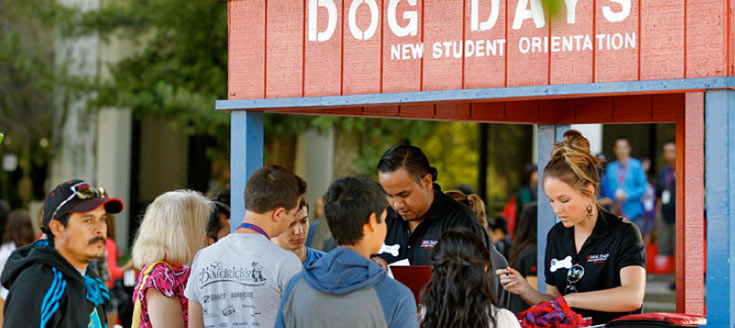 Dog days students check-in