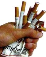 crushing pack of cigarettes image