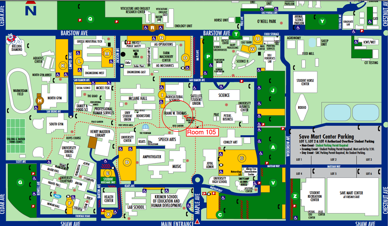 Fresno State Map Office Location Fresno State Map
