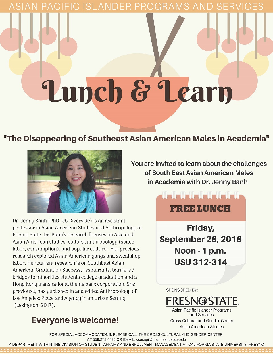 March 6, 2019: Lunch & Learn