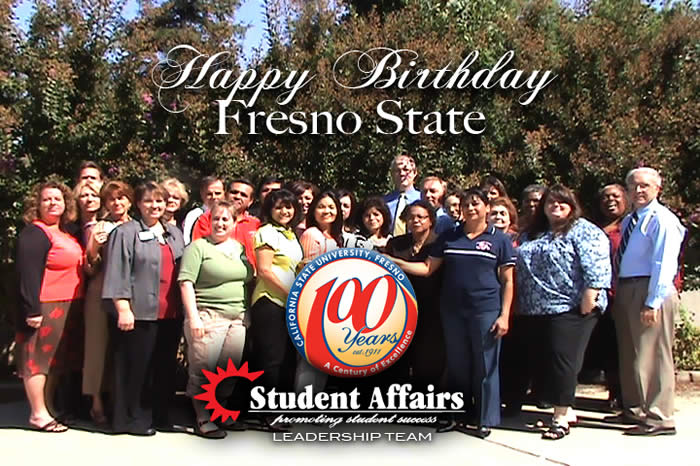 Student Affairs Leadership Team wishes Fresno State