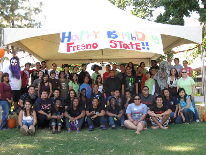 Students at the Fall Festival 2010 wish Fresno State