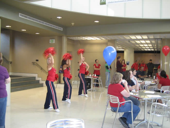 Cheerleaders at Red Friday