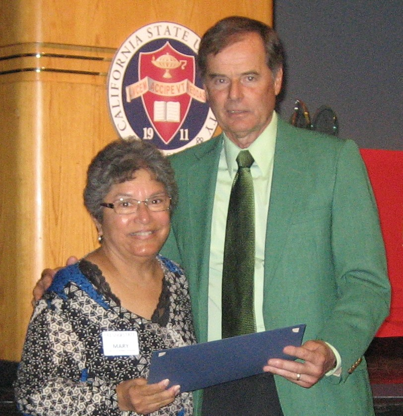Mary Galvan and Bernie Vinovrski