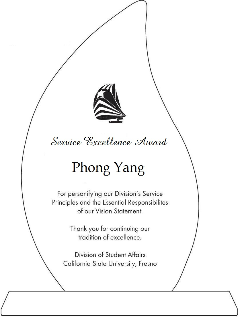 Phong Yang's Service Excellence Award