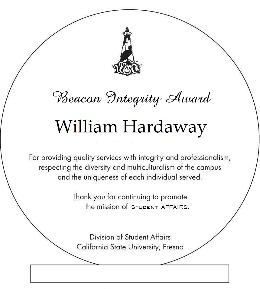 William Hardaway's Beacon Integrity Award