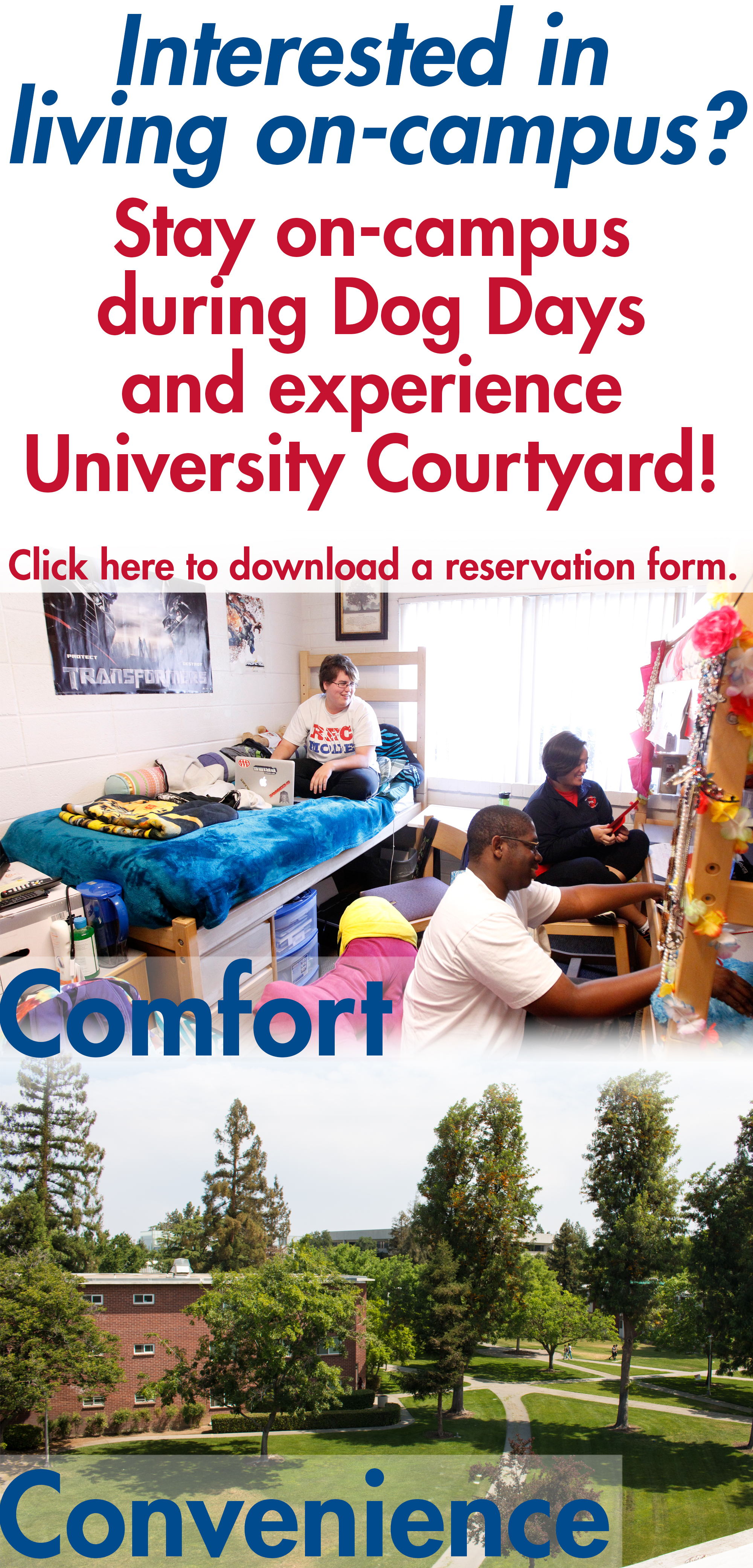 University Courtyard Ad