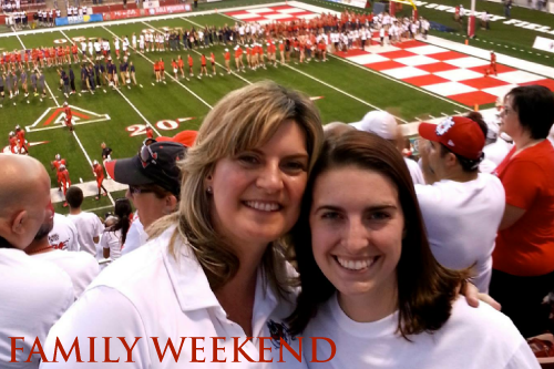 Mother and Daughter at Family Weekend