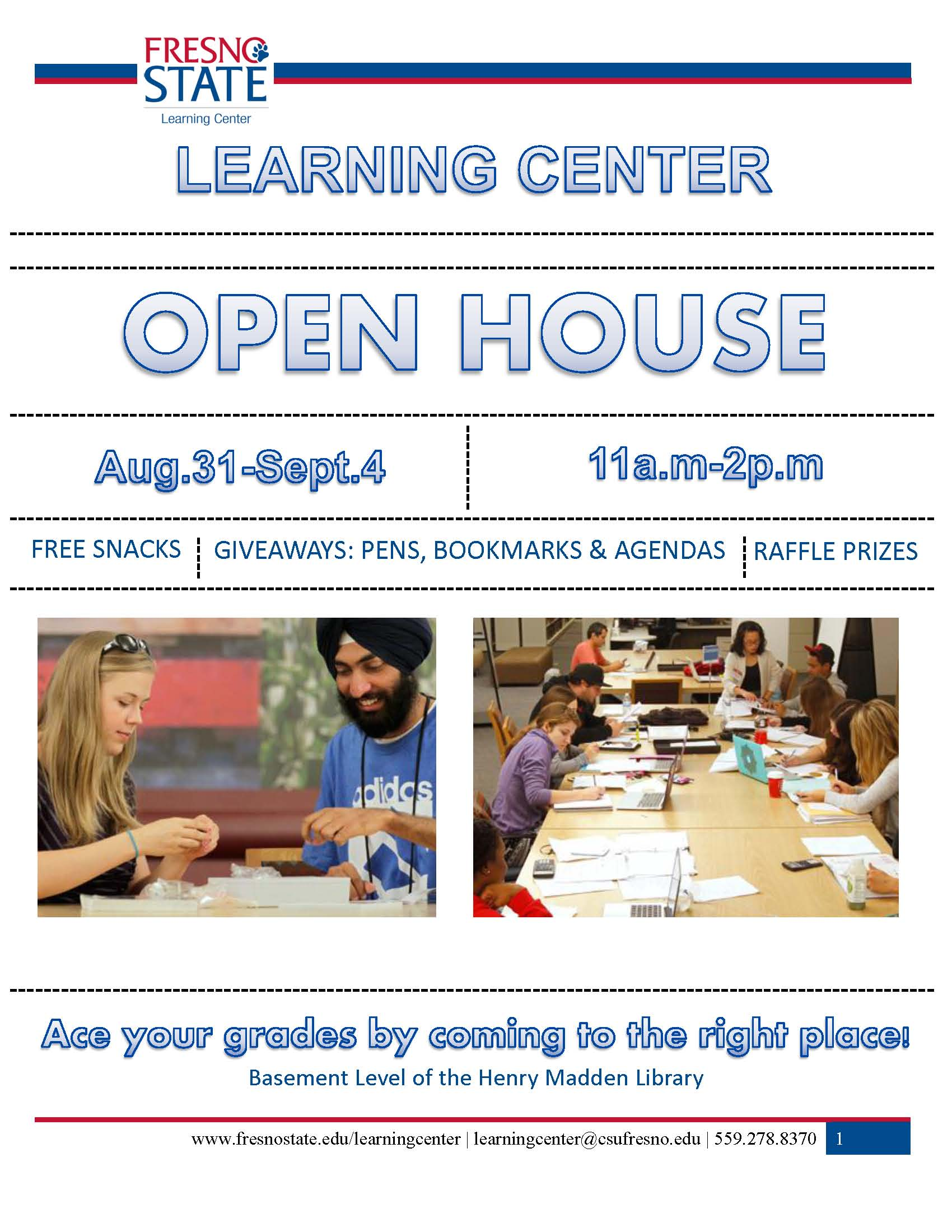 Learning Center Open House Flyer