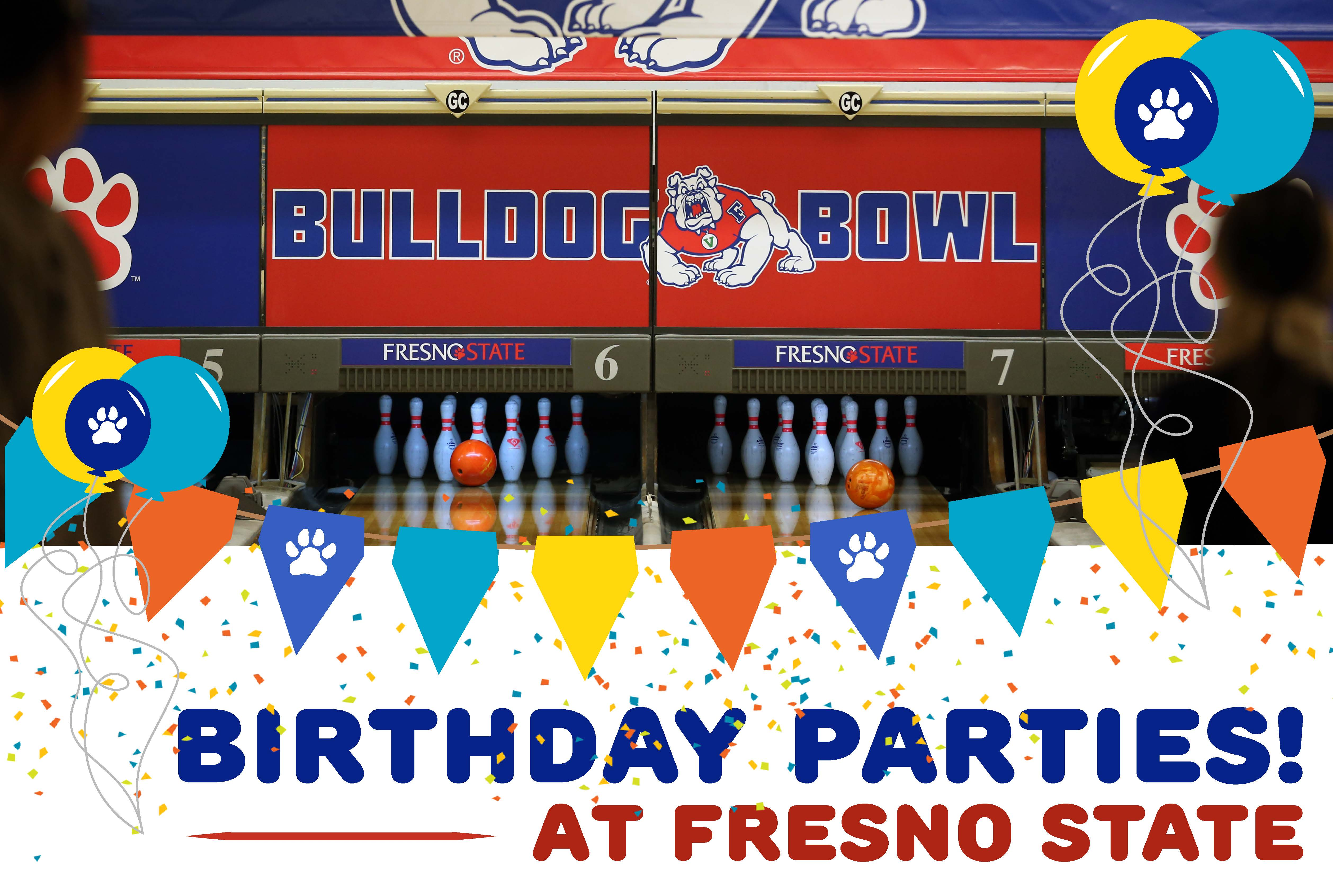 Birthday parties at the Bulldog Bowl
