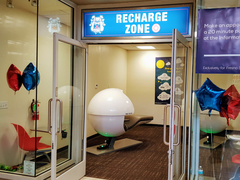 Recharge Zone with nap pods