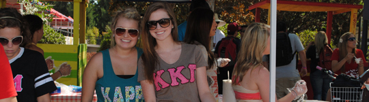 Sorority members from Kappa Kappa Gamma